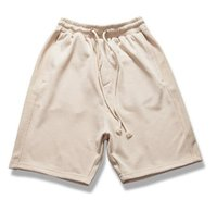 Wholesale Justin Bieber Shorts Kanye Drop Crotch Drawstring Sweat Shorts Zipper Pocket Mens Hip Hop Harem Short sup