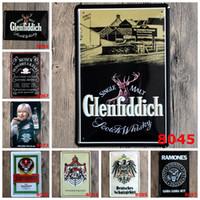 iş posterleri toptan satış-Avrupa Şaraplar Retro Teneke Posteri Işaretleri Demir Resim Sergisi 20 * 30 cm Metal Tabela Glenfiddich Ramones Gabba Iş Hediye Için Hey Desenler 3 99rjY