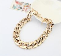 Wholesale Chunky Acrylic Links - Fashion 18K Gold&Silver Plated Women Gift Chain Chunky Necklaces & Pendants For Women Men jewelry 18K Gold-plated Coarse Necklace