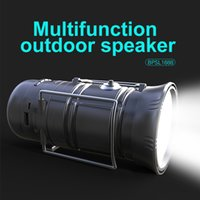 Wholesale Solar Mp3 Player - Multifunction Outdoor Bluetooth Speaker Wireless Portable Speaker With Torch And Lantern Light Solar Battery Power bank Support TF Card USB