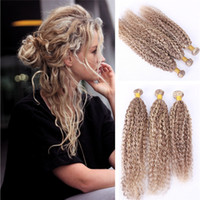 Wholesale Extensions 27 Weft - Ombre Piano Color 27 613 Hair Extension Kinky Curly Hair Weaves 3Pcs Honey Blonde And Lightest Blonde Hair Weft 3 Bundles 10-30Inch