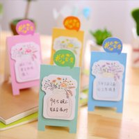Notes bloom post - Cute Blooming Bottle Cultured Floewrs Memo Pad Sticky Notes Escolar Papelaria School Supply Bookmark Post it Label6160