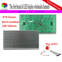 outdoor advertising media - P10 scan single white semi outdoor led module for DIP p10 Indoor advertising media LED Display