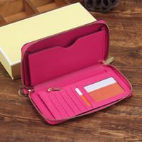 Wholesale Women Pocket Money - fashion women wallet PU leather wallet long zipper design lady Synthetic leather purse money clips SKUMIKE025