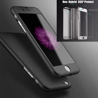 Wholesale Neo Silver - 360 Degree Full Body Protection Case Hybrid Neo Defender Armor Cover for iPhone 8 7 6 6S Plus 5S SE Free Tempered Glass Film