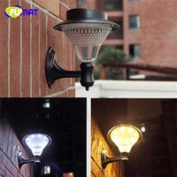 Wholesale FUMAT Outdoor Solar Wall Lamp Brightness Led Light Warm White Power Waterproof Luminaria Battery Lamps Fence LED Solar Wall Lamp