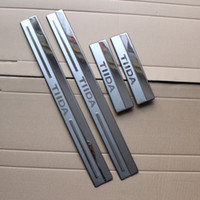 Wholesale Door Sill Scuff Plate Nissan - For Nissan Tiida 2011 Stainless Steel Scuff Plate Door Sill Ultrathin Threshold Strip Welcome Pedal Car Styling Accessories 4pcs