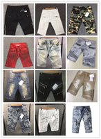 Wholesale Denim Pants For Men - Pierre New Classic Shorts Jeans for Men Shorts Runway True Biker Straight Skinny Denim Short Cowboy Slim Designer Robin Mens Joggers Pants