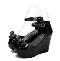 Wholesale American Wedges - summer new European American nightclub Roman sandals waterproof fish head slope with high-heeled shoes, heavy-bottomed shoes tide