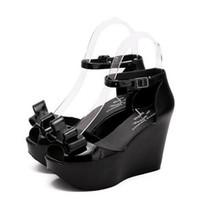 Wholesale European American Heels Shoes - summer new European American nightclub Roman sandals waterproof fish head slope with high-heeled shoes, heavy-bottomed shoes tide