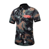 Wholesale Unique Mens Shorts - 2017 new arrival camouflage army pattern short-sleeve poloshirt high quality mens polo shirts summer unique style t-shirt free shipping