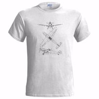 Wholesale Airplane Drawings - MESSERSCHMITT ME 109 BF TECH DRAWING MENS T SHIRT PLANE AIRCRAFT AIRPLANE GERMAN