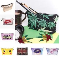 Wholesale Luxury Handbag Wholesale Free Shipping - Bags 2017 Handbags Women Lady Cosmetic Fashion Luxury Brand Hot-selling Wallet Pencil Women Makeup Case Bags 130 Design DHL Free Shipping