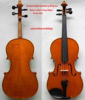 Wholesale European Spruce - Wholesale- Master Viola!16'' Size Oil Varnish Nice Flame Back European Maple 200-y Old Spruce! Hand Made Viola!Fabulous Sound9lh-04)