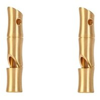 Wholesale Emergency Rescue Whistle - Brass High Decibel Emergency Rescue Whistle Holes High-frequency Whistle EDC Tool Bamboo Style 54*11mm A474