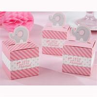 rosa elefanten geschenke großhandel-Freies Verschiffen 100 Stücke Rosa Elephant Hochzeit Bevorzugungen Und Geschenke Pralinenschachtel Für Geburtstagsfeier Dekorationen Kinder Baby Dusche Liefert