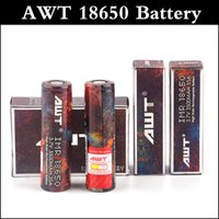 Wholesale high rate battery - Top quality AWT 18650 battery 3500mAh capacity battery 30A top Rechargeable Lithium high discharge rate e-cig battery replace VTC4 VTC5