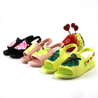 Wholesale Jelly Shoes Laces - 2017 kids shoes Girls boys Sandals Children's Sandals mini shoes cartoon beach Sandals Princess Shoe Jelly candy smell