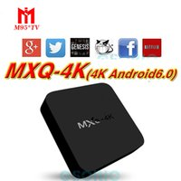 grossista MXQ Pro 4K Android 6.0 TV Box Rockchip RK3229 Quad Core 1GB RAM 8GB FLASH TV Android Streaming Kd Box