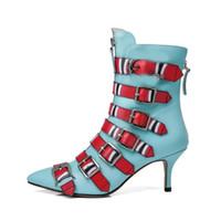 2017 herbst winter high heels mode schnalle casual matin stiefel aus echtem  leder frau stiefeletten schuhe für frauen 375c2098c7