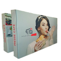Wholesale Banner Pop Ups - 12FT Straight Pop up Banner Stand, Folding Pop up Banner Stand Pop Up Structure Tension Fabric Covered Graphic Oxford Bag Packed New E02F