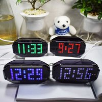 Kit De Reloj Led Baratos-DIY Digital LED reloj kit de bricolaje C / F termómetro Matrix alarma de escritorio reloj de pared Electronic Learning Kit 12 / 24H / cumpleaños recordar