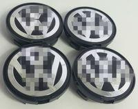 Wholesale Golf Hub Caps - 4x VOLKSWA ALLOY WHEEL BADGES CENTER HUB CAPS 63mm VW Golf Passat 7D0601165
