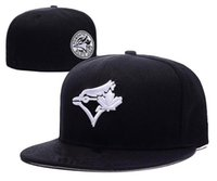 Wholesale Hats Toronto - 2017 New style Toronto Blue Jays Baseball Cap Front Logo Alternate Fitted Hats wicks away sweat Adult Sport men women Caps