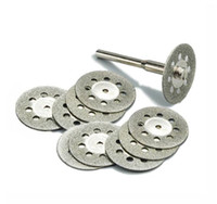 Wholesale 10Pcs set mm Diamond Cutting Discs Tool for Cutting Stone Cut Disc Abrasives Cutting Dremel Rotary Tool Accessories