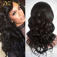 Wholesale Malaysian Virgin Hair Wavy Wigs - JYZ 100% Unprocessed Virgin Brazilian Loose Wave Wig With Baby Hair Brazilian Glueless Full Lace Human Hair Wigs For Black Women Wavy Wig