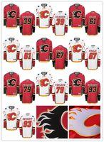 Wholesale Hockey Jerseys 79 - 39 Alex Chiasson 61 Brett Kulak 67 Michael Frolik 79 Micheal Ferland 93 Sam Bennett Mens Calgary Flames Hockey Jersey S-3XL