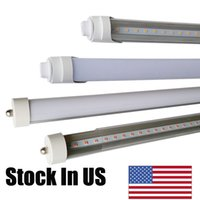 Wholesale replacement fluorescent bulbs - FA8 8ft led tube lights 2400mm 8 ft t8 t10 t12 Single Pin 36W 45W door cooler bulbs lights replacement 90W Fluorescent bulbs