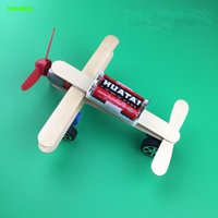 Wholesale Small Wooden Planes - Handmake Small Electric Glide Plane DIY Explore Science Students Scientific Experiment Manual Material Toy Model