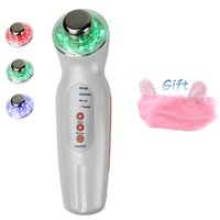Wholesale Led Light Skin Care Equipment - Portable Home Use Ultrasonic LED Photon Lights Face Care Wrinkle Remover Facial Beauty Equipment + Hair Band
