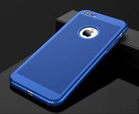 mat sabit kutu toptan satış-Tam Kapak Mat İnce Sert PC için Mesh Vaka iPhone x 8 5 6 6 S ARTı 7 8 Artı Izgara Kabuk 100 Oymak