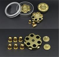 Wholesale Bullet Brass - Round Revolver Bullet Fidget Brass Fidget Spinner Fingertip Gyro EDC Brass Hand Spinner Desk Detachable Autism ADHD Stress Relief Toys