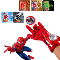 Wholesale Spider Man Gloves - New spider man gloves launcher boy Cosplay props Ejection Wrist Catapult Launcher Elastic Gloves Children Kids Dress Up Toys for boys