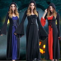 2017Halloween Costume Witch Costume Hood Cosplay Dress Sexy Vampire Cos Dress For Woman Devil A Rainha Usou Acostume Ball Role Play Costume