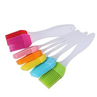 Wholesale Food Grilling - Silicone Butter Brush Bread Basting BBQ Baking Brush Pastry Grill Food Bakeware Kitchen Dining Tool OOA2315