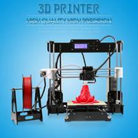 Wholesale Hot Code Printer - Hot Sale 3d-Printer diy Anet A6 Easy assembly Precision Reprap Prusa i3 3D Printer Kit DIY With Filament 16GB LCD Screen Free