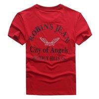 Wholesale Short Rivet Jeans - Wholesale 2017 New Robin T-shirt Mens robin jeans shirts Man Tshirt Robins men bottoming robins shirt t shirts for men tops puls size 3XL