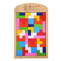 Wholesale tetris puzzle - Tetris Blocks Building Blocks Puzzle Intelligence Toys Plane Puzzle Wooden Souptoys Training Hands On Ability Children Gift New 8ry G1