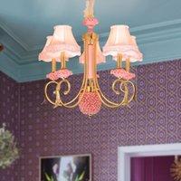candelabros de dormitorio rosa al por mayor-Nueva lámpara de araña de luz LED de estilo europeo, luz de estilo europeo, 6/6/8 luces, candelabros, iluminación para el dormitorio, sala de estar