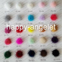 Wholesale Crafts Hair Accessories - 64 pcs in a color 35mm Mink Fur Craft pompon ball pom pom pompoms for clothing shoes Hairpins hair barrettes ornament accessories GR101
