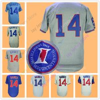 Wholesale Retro Wine Cooler - Ernie Banks Jersey 1968 1669 Vintage Retro Jerseys Home Away Cool Base Flexbase Pinstripe Baby Blue Cream