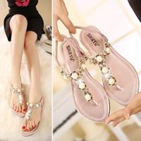 Wholesale stylish women sandals - Summer Women Sandals Crystal Beach Breathable flip flops Comfortable Seaside Stylish Woman Shoes chaussure femme