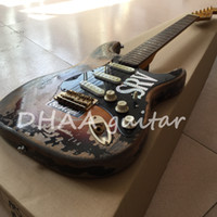 Wholesale Relic Guitar Electric - 10S Custom Shop Limited Edition Stevie Ray Vaughan Tribute - SRV Number One No.1 Relic Handmade Electric Guitar