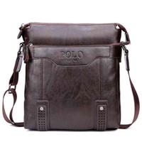 Wholesale Unique Fashion Bag - 2017 Vintage Unique Hollow Bottom Leather Man Bag With Rivet Soft Brand Men Leather Messenger Bag Fashion Shoulder Bags