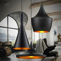 Wholesale Tom Dixon Ceiling Pendant - Indoor Light Shade Pendant Lamp E27 Bulbs Beat Light Ceiling Lamp Tom Dixon Copper Design Black White Home Decoration ABC Size 3pcs Set