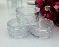 Wholesale cosmetic jars gram - 0.17oz Clear Empty Plastic Container Jars Pot 5 Gram Cosmetic Cream Eye Shadow Nails Powder Jewelry